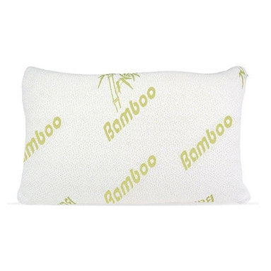 Selectavite - Memory Foam Pillows with Hypoallergenic Bamboo Cover, Queen - Bamboo Pillows are filled with the highest quality shredded memory foam. The outer soft cover is made of soft bamboo fiber encased in a soft, bamboo fabric. Bamboo Pillows are made to conform and cradle your head and neck, relieving most common sleeping problems such as tension and stiffness, promoting a more comfortable and better night's sleep. With your head and neck properly supported this will help to prevent common disorders such as: TMJ, neck stiffness, asthma, snoring, insomnia, and migraines. These quality pillows also have a life span of 10 years and are dust mite resistant! Cover is washable.