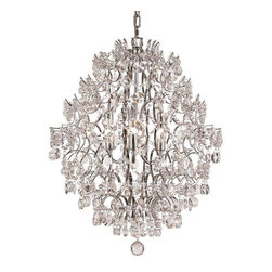 Trans Globe Lighting - Trans Globe Lighting HH-6 PC Chandelier In Polished Chrome - Part Number: HH-6 PC