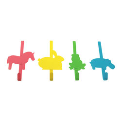 Colorful Animals - The Door Hooks, Set - these cute cartoon animals hook right over the top of almost any door and are just right for hanging towels, jackets, or bags. their durable metal material and colorful designs make them both functional and fashionable. fits door depth up to 1.5625 inches.