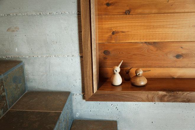 Rustic Staircase by sagemodern