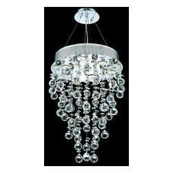 Elegant Lighting - Elegant Lighting 2006D16C(LED) Galaxy 7-Light LED, Single-Tier Crystal Chandelie - Elegant Lighting 2006D16C(LED) Galaxy 7-Light, Single-Tier Crystal Chandelier, Finished in Chrome with Clear CrystalsElegant Lighting 2006D16C(LED) Features: