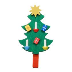 Alexander Taron - Christian Ulbricht Ornament - Xmas Tree with Ornaments Clip-On -3H x 1.5W x 0.5D - Christian Ulbricht hanging ornament - Christmas tree clip-on - made in Germany.