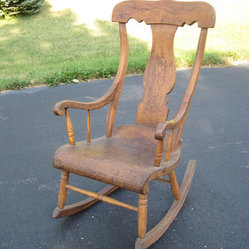 Antique Farmhouse Wood Rocking Chair by Batten Beehive Antiquity & Emporium