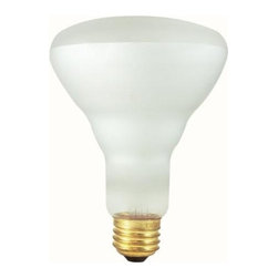 Bulbrite - Indoor Clear Reflector Light Bulbs - 12 Bulbs - One pack of 12 Bulbs. 130 V E26 base incandescent BR30 bulb type. Dimmable. Flood degree beam spread. Ideal for indoor residential and commercial use in recessed and track lighting. Perfect for recessed cans, rack lighting and wall washing. Wattage: 50 W. Lumens: 285. Color temperature: 2700 K. Average hours: 5800. Color rendering index: 100. Center beam candle power: 152. Maximum overall length: 5.13 in.