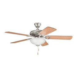 "Kichler - 52"" Sutter Place Select 52"" Ceiling Fan Antique Pewter - Kichler 52"" Sutter Place Select Model KL-339211AP in Antique Pewter with Cherry finished blades."