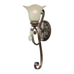 World Imports - World Imports WI4761 Crystal Single Light Wall Sconce from the Catania Collectio - Crystal Single Light Wall Sconce from the Catania Collection
