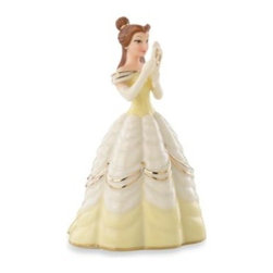 """Disney By Lenox - Disney by Lenox Beautiful Belle Figurine - Belle from Disney's """"Beauty and the Beast"""" now stars as a figurine in Lenox ivory china. She's lovely as ever, and the perfect gift for any Disney fan."""