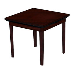 Mayline - Mayline Corsica Square End Table in Sierra Cherry - Mayline - Reception End Tables - CTSCRY - The Mayline Corsica Square End Table allows you to choose from two rich finishes with AA-grade North American hardwood veneers. Bring outstanding beauty functionality and an sense of extreme attention to detail to your home or office with the Corsica End Table.