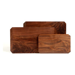 Taylor Donsker - Organic Solid Wood Cutting Boards - Large Wenge - Geometric edges with opposite angles create two unique faces in each of these beautiful organic hardwood cutting boards designed and milled by hand in Los Angeles, CA by Taylor Donsker.