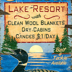Red Horse Signs - Vintage Sign all of Loon Lake Resort Large - Vintage  Sign  -  Air  Like  Wine  Nostalgic  Advertising  SignCall  of  the  Loon  can  become  your  personalized  lodge  sign  celebrating  the  relaxing  lifestyle  at  your  summer  cabin    lake  lodge  or  fishing  camp.  Simply  personalize  with  your  choice  of  name  in  place  of  Call  fo  the  Loon  for  a  refreshing  rustic  sign  printed  directly  to  distressed  wood  for  that  rough  and  worn  look  so  appealing  in  the  rustic  decor.  Measures  20  x  32.