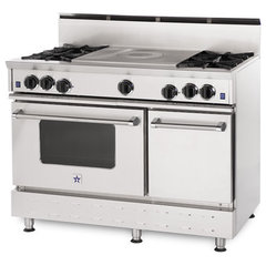 traditional gas ranges and electric ranges by BlueStar