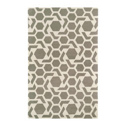 Kaleen - Kaleen Revolution Collection REV05-75 2' x 3' Grey - The color Revolution is here! Trendy patterns with a fashion forward twist of the hottest color combinations in a rug collection today. Transform a room with the complete color makeover you were hoping for and leaving your friends jealous at the same time! Each rug is hand-tufted and hand-carved for added texture in India, with a 100% soft luxurious wool.
