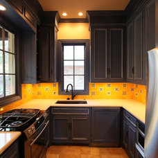 Eclectic Kitchen by Greenway Renovations and Custom Homes