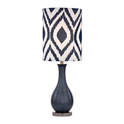 Dimond - One Light Navy Blue With Black Nickle White With Blue Pattern Print Fa - One Light Navy Blue With Black Nickle White With Blue Pattern Print Fa