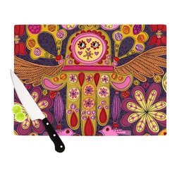 "Kess InHouse - Jane Smith ""Indian Jewelry"" Purple Yellow Cutting Board (11"" x 7.5"") - These sturdy tempered glass cutting boards will make everything you chop look like a Dutch painting. Perfect the art of cooking with your KESS InHouse unique art cutting board. Go for patterns or painted, either way this non-skid, dishwasher safe cutting board is perfect for preparing any artistic dinner or serving. Cut, chop, serve or frame, all of these unique cutting boards are gorgeous."
