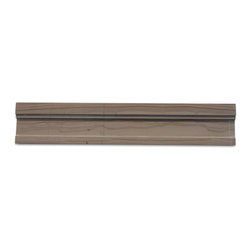 GlassTileStore - Chair Rail Athens Gray Honed Marble Tile Liner - Chair Rail Athens Gray 2x12 Honed Marble Tile Liner               Natural Variation from Piece to Piece         Size:    Color: Gray   Material: Athens Gray   Finish: Honed   Sold by the Piece   Thickness: 15mm            - Glass Tile -