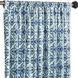 Azure Tile Curtain - These exotic blue curtains will liven up any space in your home.