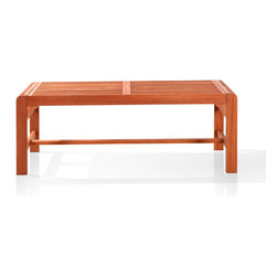 Vifah - Vifah Backless Two Seater Wood Outdoor Bench - This versatile wood outdoor bench is a great addition to any garden or patio. Its natural tan finish means it will create the perfect atmosphere in your garden, and because it's backless, it can be used as a footrest or picnic table.
