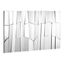 Zuo - Glacier Mirror - The Glacier mirror is as smooth as ice and the handmade mirrors are perfectly fit together.  Add that final touch to the dining, living, or entryway.
