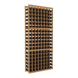Wine Racks America - 8 Column Standard Wine Cellar Kit in Pine, Oak Stain - Wooden wine storage available in pine or redwood Plus many stain and finish options. The best rack for an intermediate collector. This rack stores up to 12 cases of wine in 18 bottle columns. You'll love it. We guarantee it.