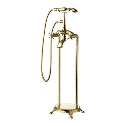 Oristano II - Gold Finish Two Handle Traditional freestanding bathtub faucet -