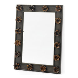 Trellis Rust Mirror - Renovate your home by displaying this awesome Trellis Rust Mirror in your room to impress your guest. The mirror is elegantly beveled in wood and iron that gives it a unique appearance. With rustic finish, it surely makes the sophisticated piece of interior decoration.