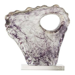 Arteriors - Arteriors Home - Lilly Sculpture - 7183 - This unique solid glass sculpture has been hand formed then mounted on a crystal base. Each will vary slightly in shape and coloration due to the handcrafted artisan nature of the piece. Consider this artwork for a pedestal, shelf or table.