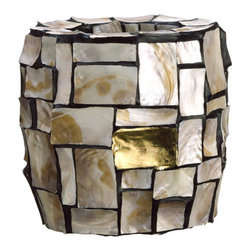 Silk Plants Direct - Silk Plants Direct Mother of Pearl and Gold Leaf Planter Pot (Pack of 1) - Pack of 1. Silk Plants Direct specializes in manufacturing, design and supply of the most life-like, premium quality artificial plants, trees, flowers, arrangements, topiaries and containers for home, office and commercial use. Our Mother of Pearl and Gold Leaf Planter Pot includes the following: