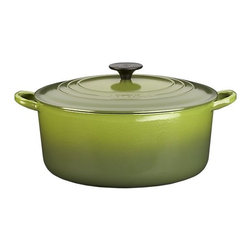 Le Creuset® Round French Oven in Enamel Cast Iron, Spinach - Springtime makes me want to cook, and this adorable green pot will have you whipping up soups and stews in no time. It's pretty enough to leave sitting out on the stovetop even when you're not cooking.
