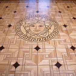 Versace style wood floor inlay -