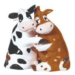 Westland - 3.5 Inch Hugging Brown and Spotted Cows Salt and Pepper Shakers - This gorgeous 3.5 Inch Hugging Brown and Spotted Cows Salt and Pepper Shakers has the finest details and highest quality you will find anywhere! 3.5 Inch Hugging Brown and Spotted Cows Salt and Pepper Shakers is truly remarkable.