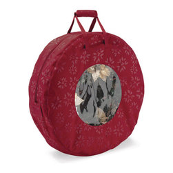 Classic Accessories - wreath storage bag - When tis the season to find the trimmings, these clever and beautiful organizers will add comfort and joy. This complete holiday decoration storage line of protectively padded bags and totes keeps your ornaments organized, lights looped and trees tucked safely away.