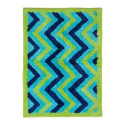 Pam Grace ZigZag Elephant Rug - The bright zig zag stripes of the Pam Grace ZigZag Elephant Rug add fun and color to your baby's room. This plush, soft rug features a classic argyle design and is machine washable for your convenience. About Pam Grace CreationsPam Grace Creations was created by Pam Val, a loving wife and mother of four, in January of 2006. Pam had seven years of experience in the baby bedding and nursery decor industry from working with her sister to run their own baby product business. She brought this experience and knowledge of the industry to her own company, and Pam Grace Creations was born.Pam is committed to providing new parents a combination of style, affordability, and convenience, and to that end she created her Nursery-to-Go 10-piece baby bedding sets. These sets include everything parents need to outfit their new baby's room in a range of styles and color palettes at an affordable price--without having to hunt down their nursery items piece by piece.