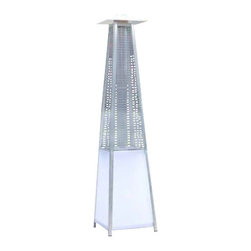 Creative Outdoor Decor - Real Flame Patio Heater With Led Lights - Gas type: Propane, butane and mixtures (LPG) 40,,000 BTUs
