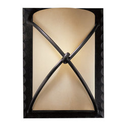 Minka Lavery - Minka Lavery ML 1972 1 Light Wall Sconce with Rustic Scavo Shade from the Aspen - Single Light Wall Sconce with Rustic Scavo Shade from the Aspen CollectionFeatures: