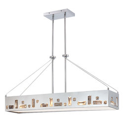 George Kovacs - George Kovacs P1096-077 Bling Bang 6 Light Island Chandelier - - Chrome Finish