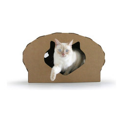Elizabeth Paige Smith - Kittypod Dome - Take your cat glamping in this tent-like dome-icile. Easy to assemble, it features a scratch pad, cat-shaped entry with back cut-outs and toys to tickle your tabby. What's more? It's made of cardboard so your kitty's litter can be recycled.