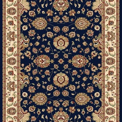 "Concord Global - Concord Global Williamsburg Sultan Navy Oriental 6'7"" x 9'6"" Rug (7594) - Williamsburg Collection is a 1.5 million point quality. This assortment consists of gorgeous oriental replicas with intricate motifs and designs dating back to 18th century. Many of you asked for higher quality traditional look in a navy color, we added navy along with black. They look just like high end hand made rugs with exceptional details. 100% olefin, machine made in Turkey."