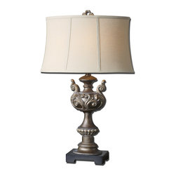 Uttermost Stilaro Bronze Table Lamp Textured Antiqued