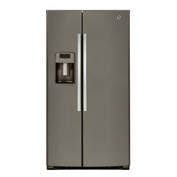GE ENERGY STAR® 25.9 Cu. Ft. Side-By-Side Refrigerator (model #GSE26HMEES) - Features: