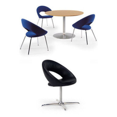 "Nina Chair By Artifort - Nina is designed as an elegant, comfortable dining chair or conference chair. The rounded, well fitted back makes the chair pleasant during an active seating i.e. during a meal, or during a more relax position after having finished a meal. ""Nina"" is also applicable as a conference chair. The combination of contemporary design and seating comfort makes the Nina perfect for luxurious settings. Designed by René Holten"