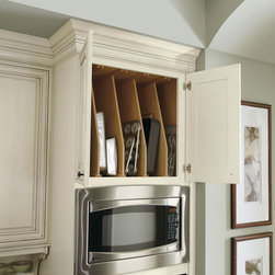 Diamond Wood Tray Dividers - For convenient vertical storage, Diamond's wood tray dividers are available for many base, wall, and even oven cabinets.