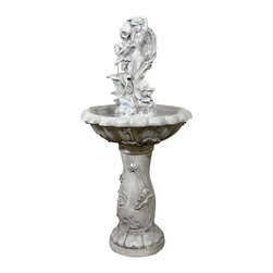 Serenity Health & Home Decor - Fairy Flower Solar On-Demand Fountain - A beautiful fairy pours a steady stream of soothing water in this delicate fountain, which is completely solar-powered and made of weathered resin. Placed in your front flower bed or your backyard terrace, it will enchant you and your guests more each time you relax next to it, with each and every cascading drop.