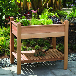 Phat Tommy - Phat Tommy Elevated Brown Planter Box - Tend your garden comfortably after purchasing this handy Phat Tommy planter box. Made from tough cedar wood, this accessory features an elevated design that allows you to plant or care for flowers without bending over and straining your back.