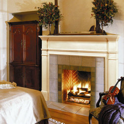 Windsor Fireplace Mantel - Make the fireplace the focal point of the room with the simple and elegant Windsor Fireplace Mantel. Unfinished hardwood is easy to stain or paint to match any decor.