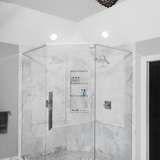 Transitional Bathroom by Silver Leaf Construction & Renovation