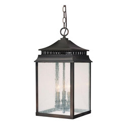 Capital Lighting - Traditional Classic 3 Light Outdoor Hanging LanternSutter Creek Collection - Features: Specifications: Requires (3) x 60 Watt Candelabra Base Bulbs (Not Included) Since 1990, Capital Lighting has worked with residential, commercial, hotel and construction clients.
