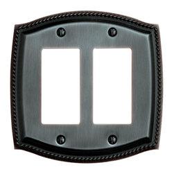 Baldwin Hardware - Rope 2 GFCI Wall Plate in Oil-Rubbed Bronze (4797.112.CD) - Baldwin - Rope 2 GFCI Wall Plate - Venetian Bronze