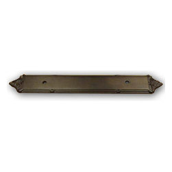 Century Hardware - Solid Brass - Backplate - for Pull - Oil Rubbed Bronze (CENT16069-10B) - Solid Brass - Backplate - for Pull - Oil Rubbed Bronze (CENT16069-10B)