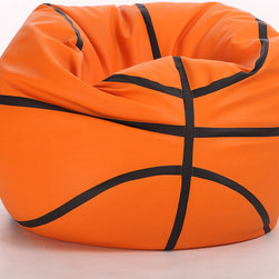 Turbo BeanBags - Beanbag Basketball, Gold And Black, Filled Bag - The Basketball Beanbag is one of the newest products from Turbo BeanBags. Because of its size it's a comfortable chair to sit for a child or make a great addition to a children's room decor. An amazing gift for kids by its innovative design.